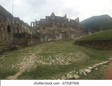 Historic ruins of Sans Souci Palace in Cap Haitien, Haiti