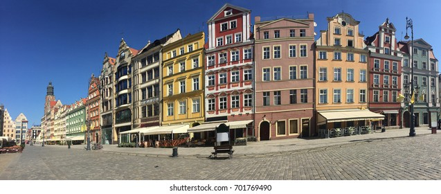 The historic Rynek market square in Wroclaw, Poland