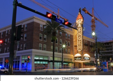 The historic Saenger Theater at 1111 Canal Street in the French Quarter of New Orleans, Louisiana, USA - December 22, 2018