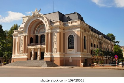 The historic Saigon Opera House in Dong Khoi Street, Ho Chi Minh City, Vietnam.