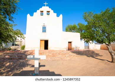 Historic Saint Joseph Church in Laguna Pueblo indian village, old Catholic mission, New Mexico, USA