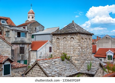 Historic Saint Nikolas church in the old town in Split, Croatia