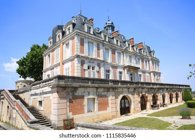 The historic Château Saint-Michel in Rully, Bourgogne, today a hotel, France, 08-24-2017 at 4pm