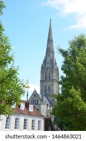 Historic Salisbury Cathedral in Salisbury, England