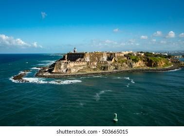 Historic San Felipe Del Morro Castle in San Juan, Puerto Rico