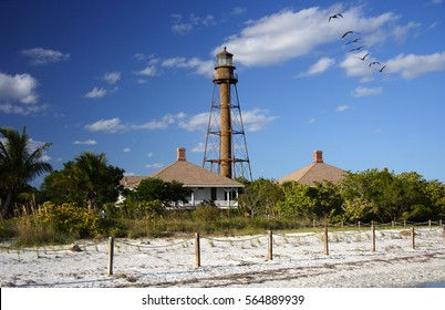 Historic Sanibel Island Lighthouse on the Florida Gulf Coast
