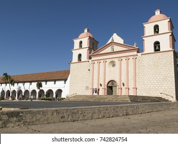 Historic Santa Barbara Mission in Santa Barbara, California. Church landmark since 1820.