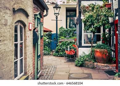 Historic Schnoorviertel in Bremen, Germany - Shutterstock ID 646568104