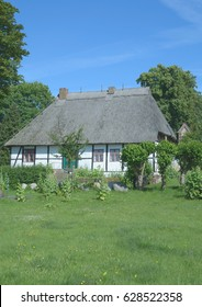 the historic School House of Middelhagen on Ruegen at baltic Sea,Mecklenburg western Pomerania,Germany