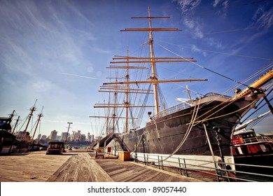 The historic schooner at South Street Seaport, New York