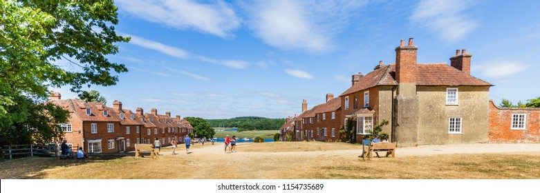 Historic shipbuilding village Buckler's hard on the banks of the Beaulieu River ,in the New forest in Hampshire, England, United Kingdom