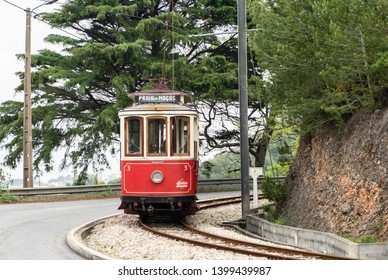 Historic Sintra tram seen in Sintra area, Portugal.