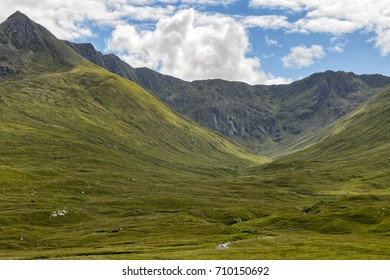 Historic site of the battle of Glen Shiel in the Scottish highlands.
