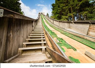Historic Ski Jump Built in Oberhof, Thuringia