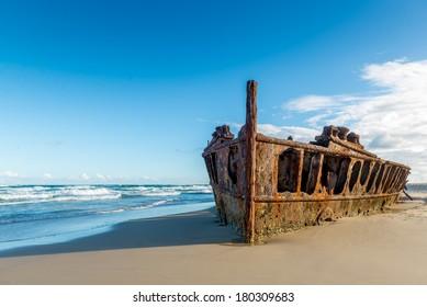 Historic SS Maheno Wreck, Fraser Island - Australia