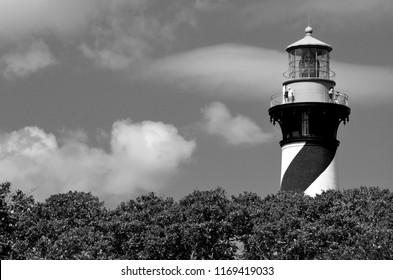 Historic St. Augustine, Florida lighthouse background