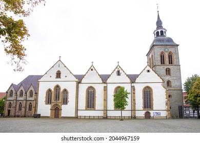 Historic St.-Aegidius-Kirche in Wiedenbrück, Rheda-Wiedenbrück, Westphalia, Germany - Shutterstock ID 2044967159