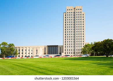Historic State Capitol of North Dakota in Bismarck, USA