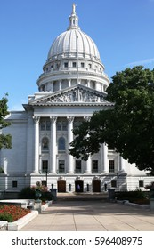 The historic State House of Wisconsin in Madison, USA