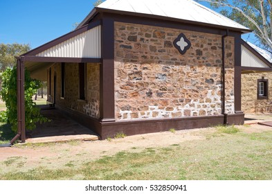 historic stationmaster kitchen building exterior at telegraph station in alice springs of northern territory australia