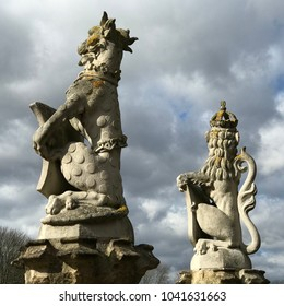 Historic stone sculptures