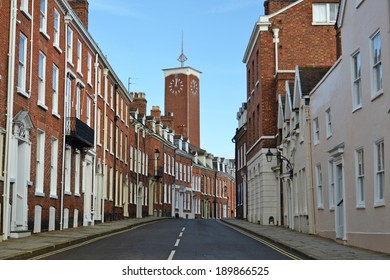 historic street in English town