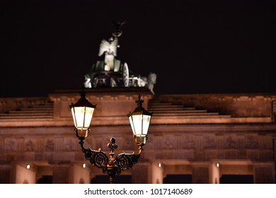 Historic street lamp near the Brandenburg Gate