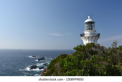 The historic Sugarloaf Point Lighthouse, at the northern end of Myall Lakes National Park offers coastal views. Sugarloaf Point Lighthouse stands on a dramatic headland east of Seal Rocks village.