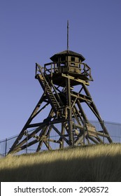 Historic, sunlit Fire Tower built in 1864 in Helena, Montana...also known as Guardian of the Gulch