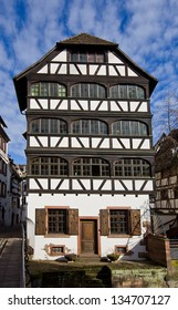 Historic Tanner House (Maison de tanneurs, circa 1742). National heritage site of France. Small France area, Strasbourg (UNESCO site). Alsace region, France