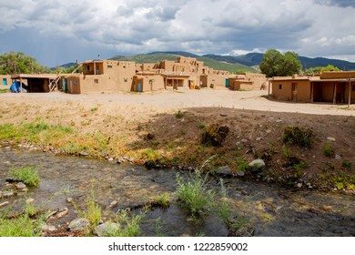 Historic Taos Pueblo in New Mexico, Unesco World Heritage, National Historical Landmark, USA