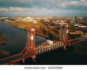 The historic  Teesside middlesbrough Newport bridge.