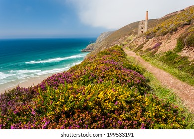 The historic Towanroath Engine House at Wheal Coates near St Agnes Cornwall England UK Europe