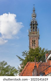 Historic tower of the carillion of Edam, Holland