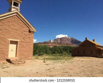 Historic town in American West. Grafton ghost town. Famous movie set.