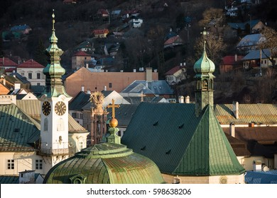 Historic town centre of Banska Stiavnica - mining town in Slovakia, Unesco site
