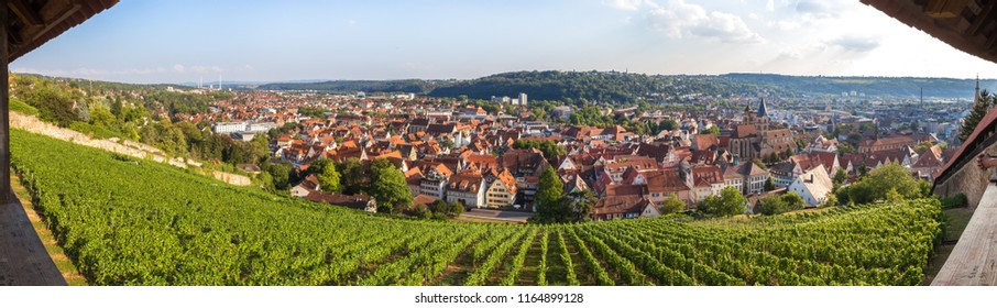 historic town esslingen germany high definition panorama