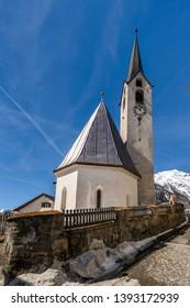 historic town Guarda in Switzerland, Engadin
