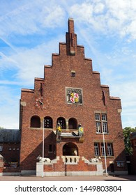 Historic Town Hall in Waalwijk. The architect of the building is Alexander Jacobus Kropholler. The building was finished in 1932