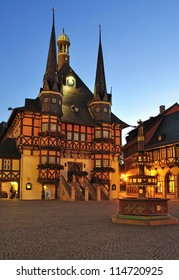 historic Town Hall of Wernigerode,Harz Mountains,Germany