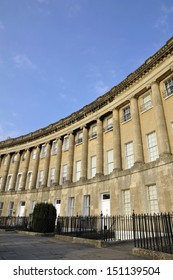 The Historic Town Houses of the Royal Crescent in Bath England