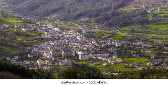 The historic town of Mondoñedo, Lugo, Galicia, through which passes the Camino de Santiago North