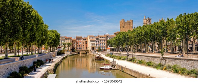 Historic town of Narbonne in France