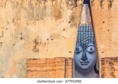 Historic Town of Sukhothai and Associated, Sukhothai Historical Park, Wat Si Chum, Thailand.