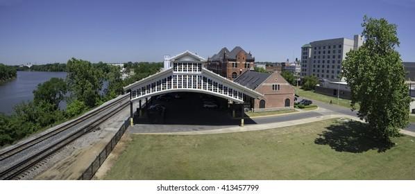 Historic Union Station train station Montgomery Alabama along the Alabama River
