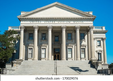 Historic United States Custom House in downtown Charleston, South Carolina.