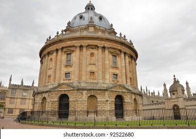 Historic University Building in Oxford on a Cloudy Day