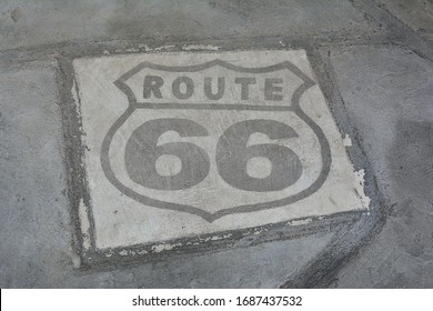 Historic U.S. old Route 66 sign.