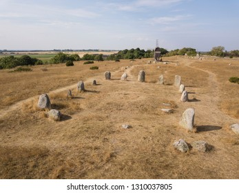 historic Viking cemetery on a öland in sweden