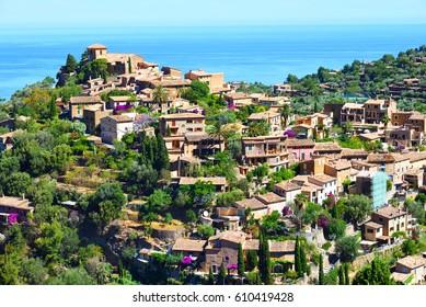 Historic village of Deiaon the island of Majorca in Spain